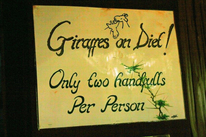 Giraffe Diet - Nairobi