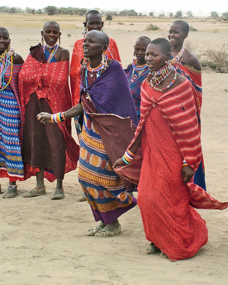 Maasai Women dancing